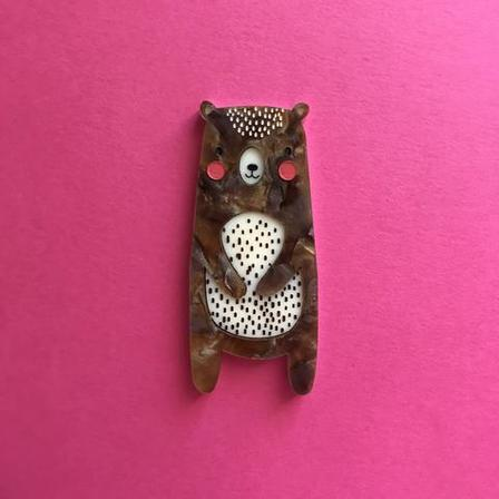 DAISY JEAN FLORAL Billy The Bear Brooch