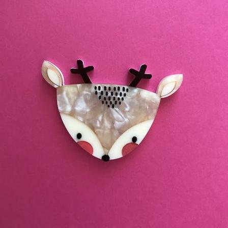 DAISY JEAN FLORAL Dexter The Deer Brooch