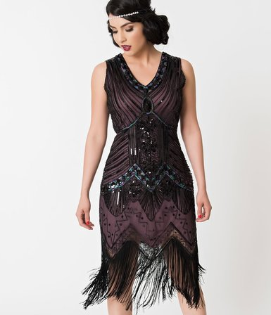 46d6106ba1 With a bit of royalty and aristocratic detail, the Veronique Flapper dress  is fresh from Unique Vintage in stunning 1920s design. Intricately deco  beaded ...