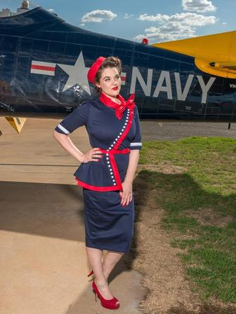CHERRY BOMB VINTAGE COUTURE Hedy Classic Navy