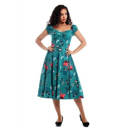 COLLECTIF Dolores Atomic Cats Doll Dress