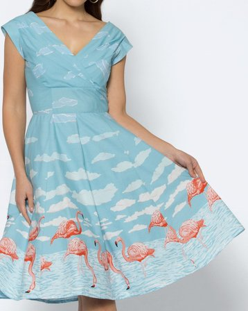 REVIVAL Gather Around Dress Pale Blue