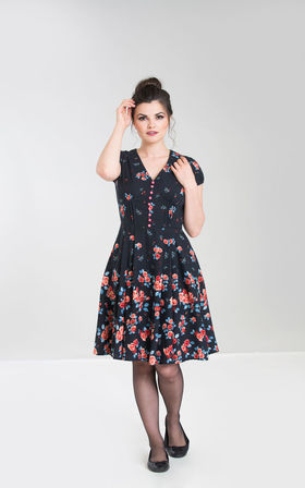 HELL BUNNY Ellen Dress Navy