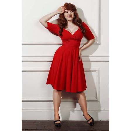 COLLECTIF Trixie Doll Dress Red Last One Size 18