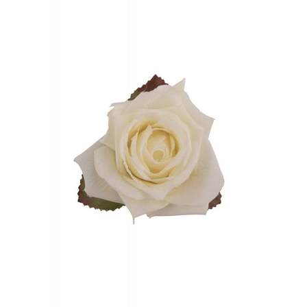 COLLECTIF Blake Rose Hair Flower Ivory