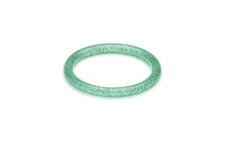 SPLENDETTE Pale Green Glitter Bangle