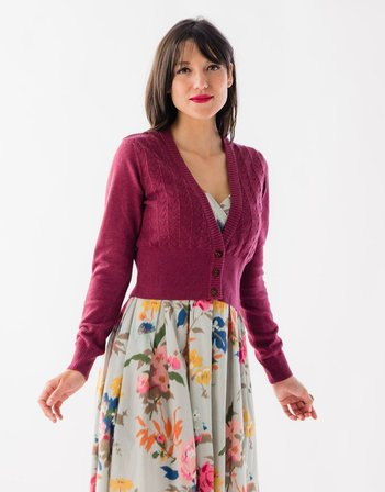 LAZYBONES Verity Cardigan in Plum