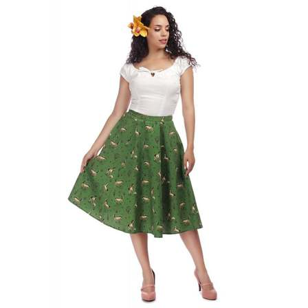 COLLECTIF Matilde Wild West Swing Skirt