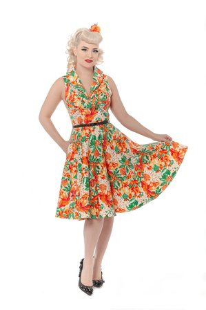 REBEL LOVE CLOTHING Hello Darling Tropical Orange