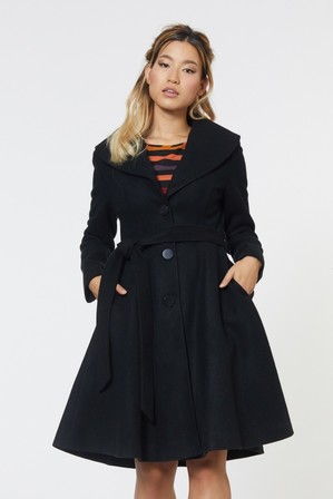 REVIVAL It's A Wrap Coat Black