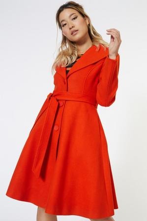 REVIVAL It's A Wrap Coat Orange Last One Size 10