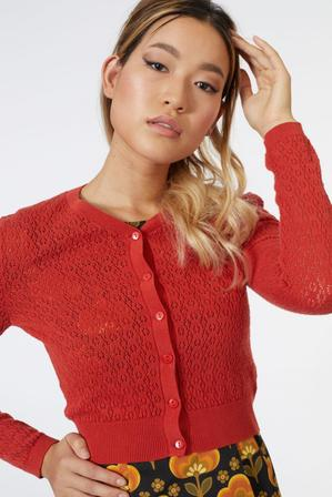 REVIVAL Pumpkin Pie Cardigan Burnt Orange
