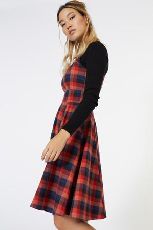 DANGERFIELD Off Your Plaid Pinafore Dress