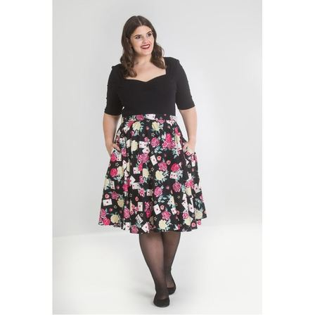 HELL BUNNY Queen Of Hearts Skirt