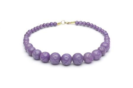 SPLENDETTE Amethyst Carved Fakelite Beads