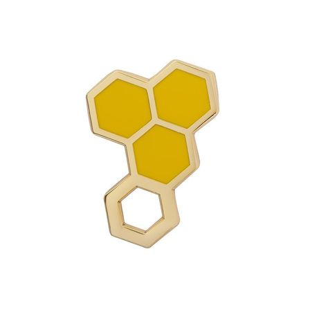 ERSTWILDER Happy Honeycomb Enamel Pin