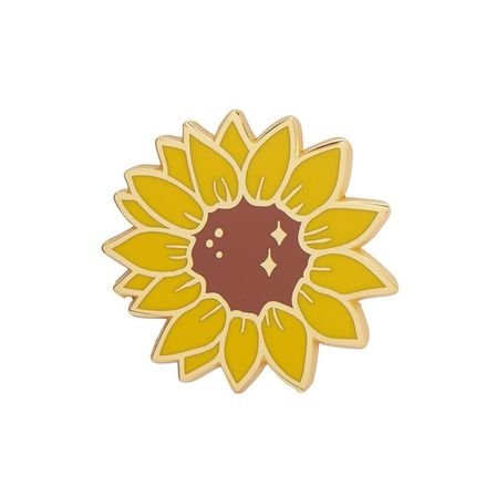 ERSTWILDER Salubrious Sunflower Enamel Pin