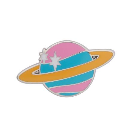 ERSTWILDER Saturn The Sixth Enamel Pin