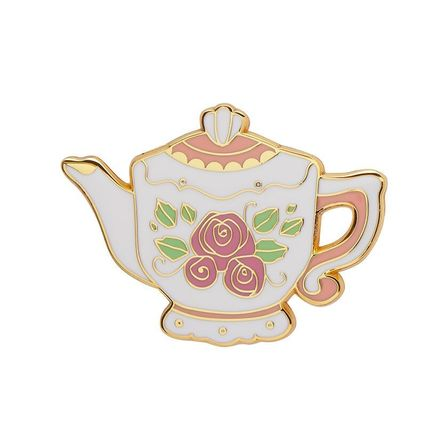 ERSTWILDER Traditional Teapot Enamel Pin