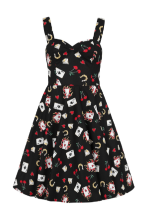 HELL BUNNY Viva Las Vegas 50s Dress