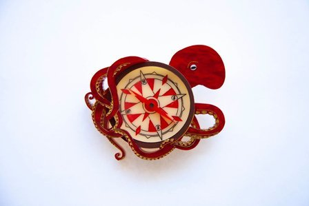 DAISY JEAN FLORAL Voyage Of The Kraken Brooch