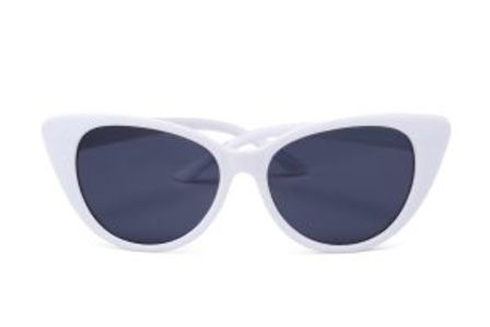 Retro Sunglasses White Cat Eye
