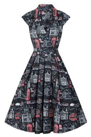 LADY VINTAGE Eva Dress London Town