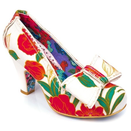 IRREGULAR CHOICE Summer Freckles White and Red