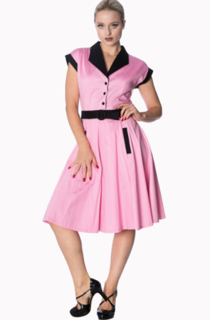 BANNED APPAREL Grease Diner Dress Pink