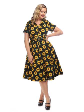 COLLECTIF Caterina Sunflower Dress