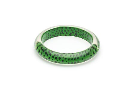 SPLENDETTE Green Leopard Bangle