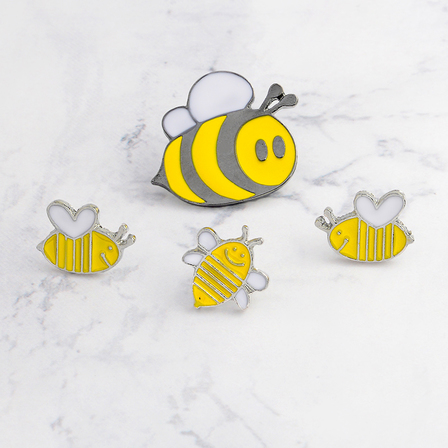 Honey Bee Set of 4 Pins