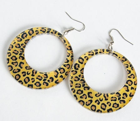 Mila Hoop Earrings Leopard