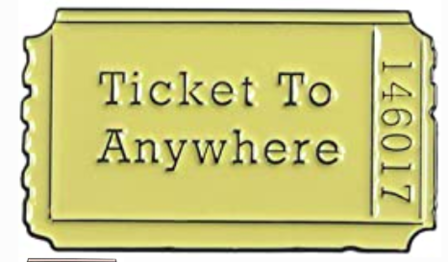 Ticket To Anywhere Pin