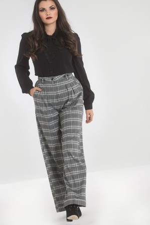 HELL BUNNY Frostine Swing Trousers
