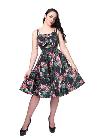REBEL LOVE CLOTHING All Tied Up Dress Flamingo
