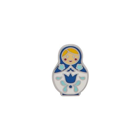 ERSTWILDER Matroyshka Memories Small Enamel Pin Blue