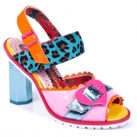 IRREGULAR CHOICE Cruel To Be Kind Pink And Blue