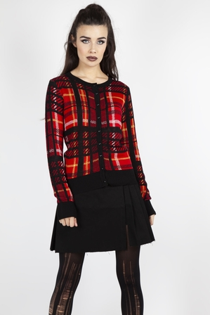 JAWBREAKER Don't Cross Me Plaid Cardigan