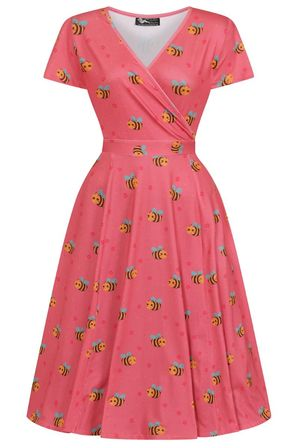 LADY VINTAGE Lyra Dress Busy Bee