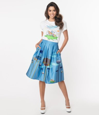 UNIQUE VINTAGE Jetsons x Unique Vintage Jayne Swing Skirt