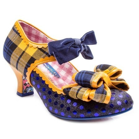 IRREGULAR CHOICE Apple Spice Blue Tartan