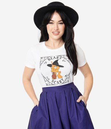 UNIQUE VINTAGE Care Bears Beary Scary Womans Tee