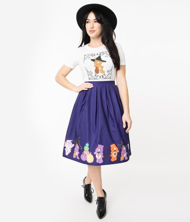 UNIQUE VINTAGE Care Bears Halloween Fun Jayne Swing Skirt