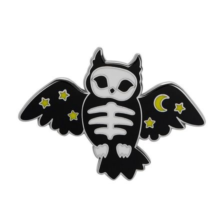 ERSTWILDER Hoot And Haunt Enamel Pin