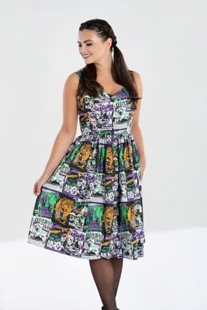 HELL BUNNY Be Afraid 50s Dress