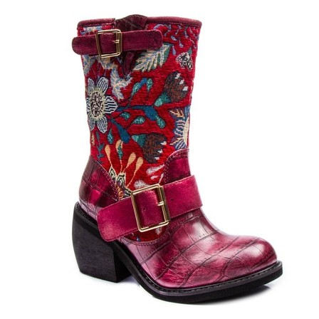 IRREGULAR CHOICE Great Escape Boots Red