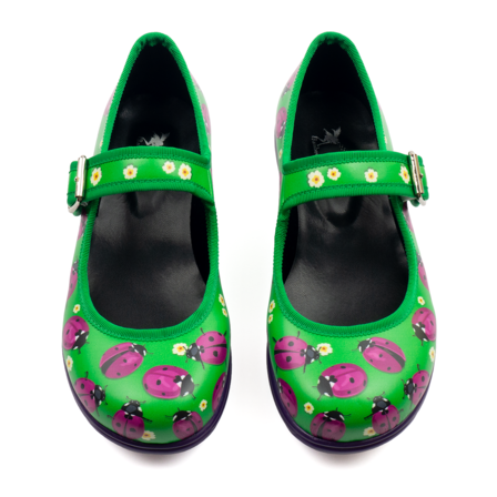 Loveliness Mary Jane Flats Ladybugs