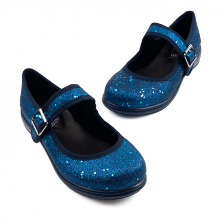 RAINBOWS AND FAIRIES Sapphire Glitter Mary Jane Flats