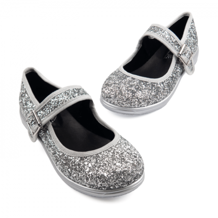 RAINBOWS AND FAIRIES Disco Glitter Mary Jane Flats